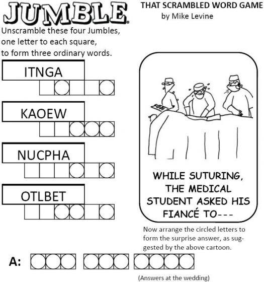 7 Images of Large Print Word Jumbles Printable