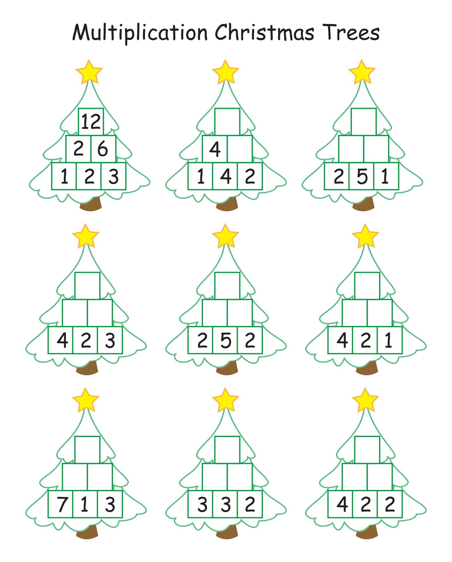 1st Grade Christmas Math Worksheets Printable