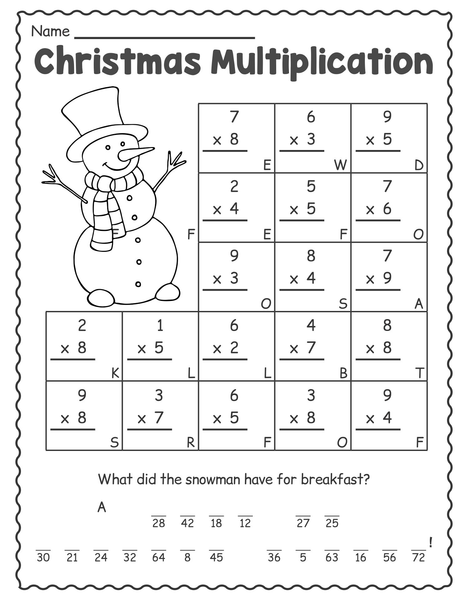 1st Grade Christmas Math Worksheets