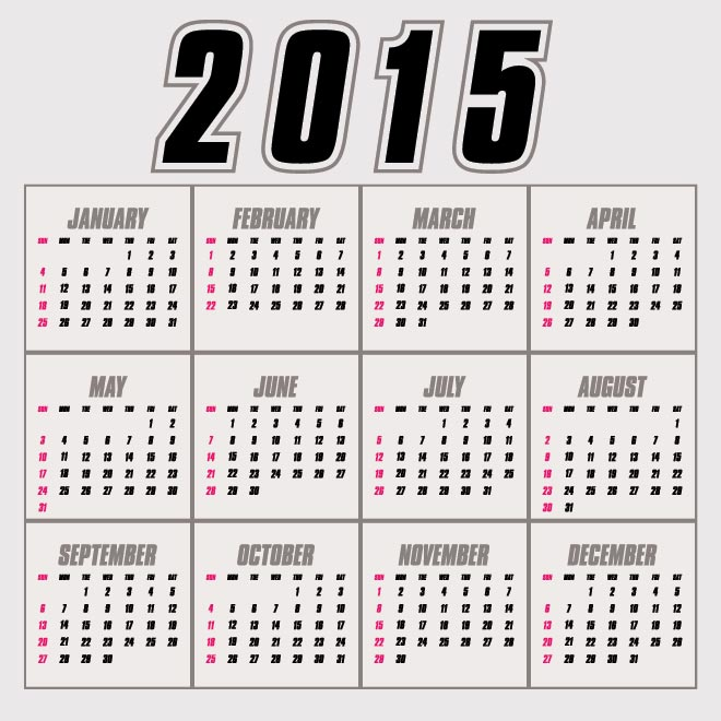 8 Images of Glance 2015 Printable Calendar All Months