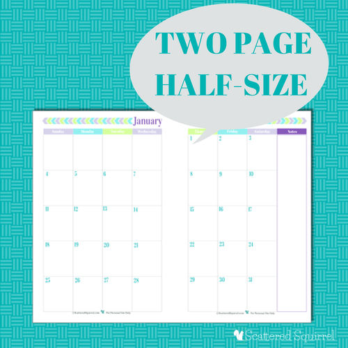 Blank Calendar Half Page : Best images of printable page per month planner
