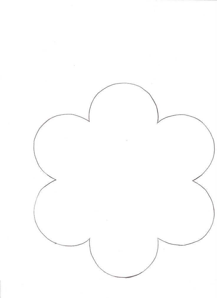 9 Images of 3 Petal Flower Outline Printable