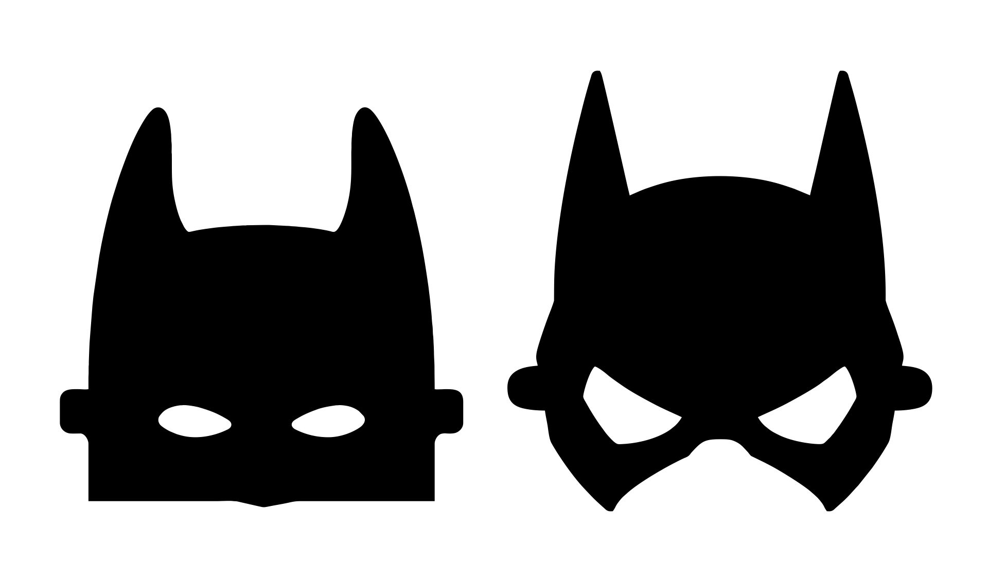Batman Mask Template Printable
