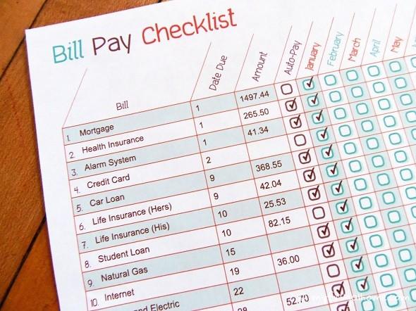 4 Images of Bills O Do List Printable