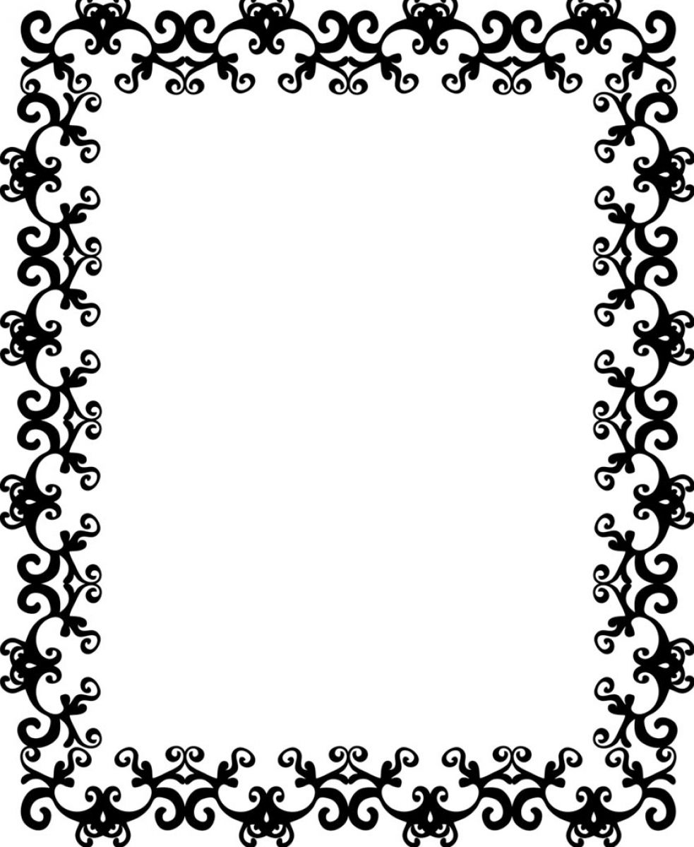 Black and White Border Designs Patterns