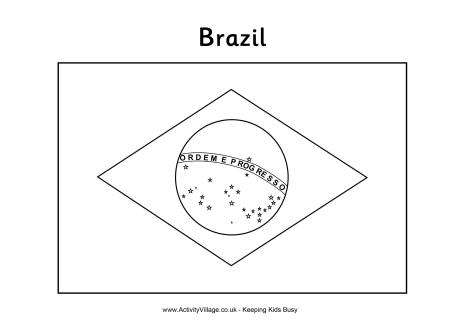 6 Images of Brazil Flag Coloring Page Printable