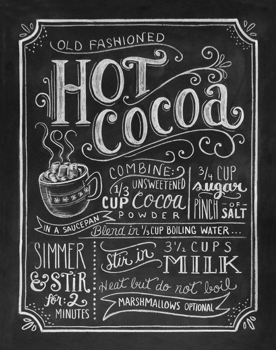 Chalkboard Art Hot Cocoa