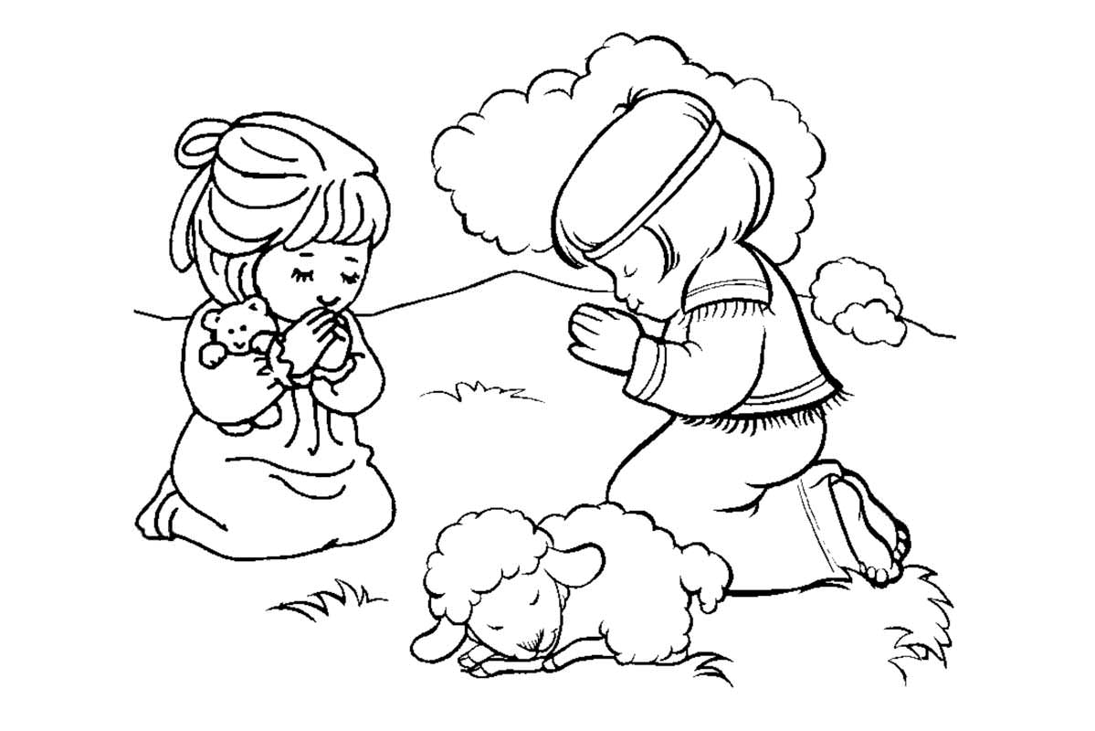 7 Images of Free Printable Coloring Pages Pray