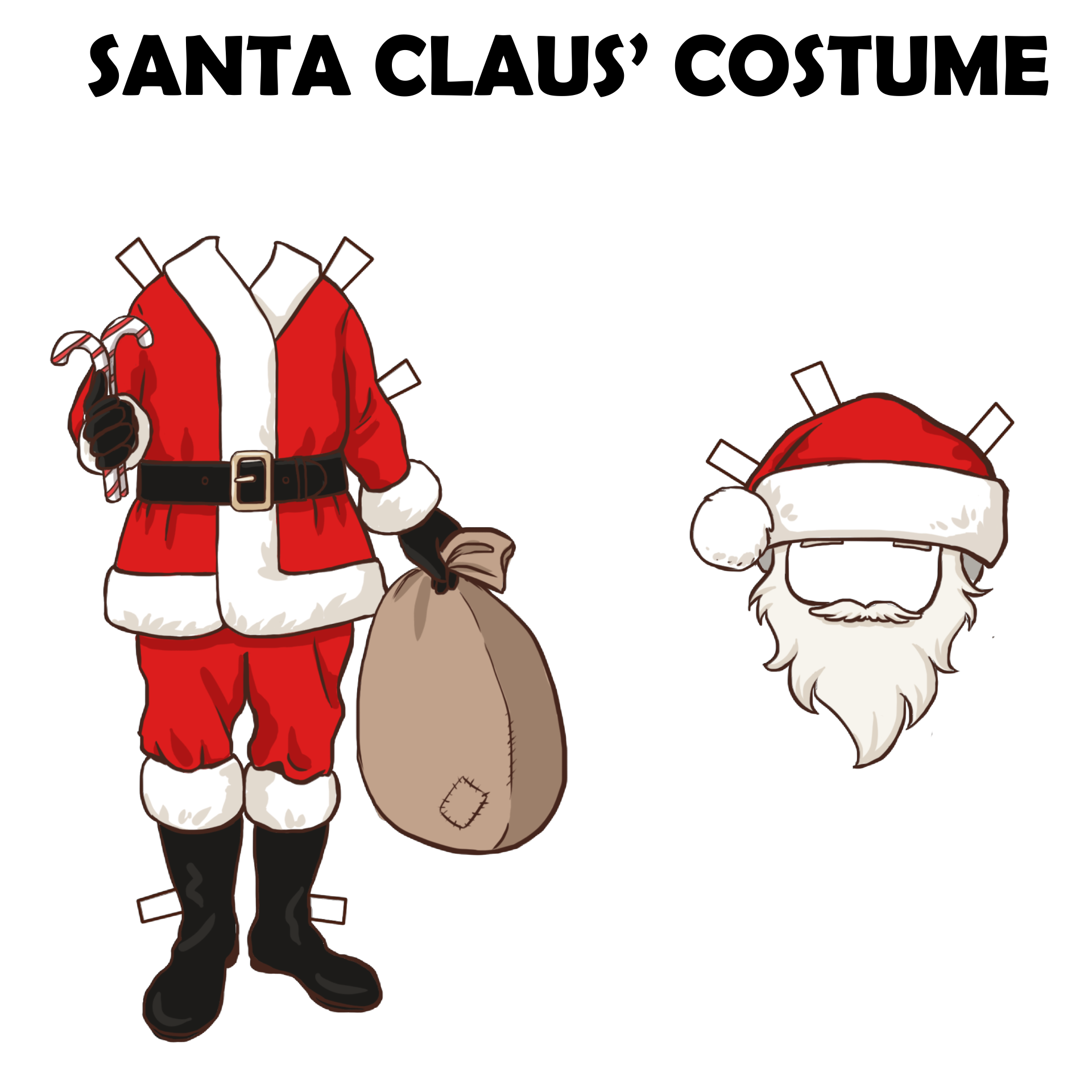 Christmas Paper Doll Printable Crafts