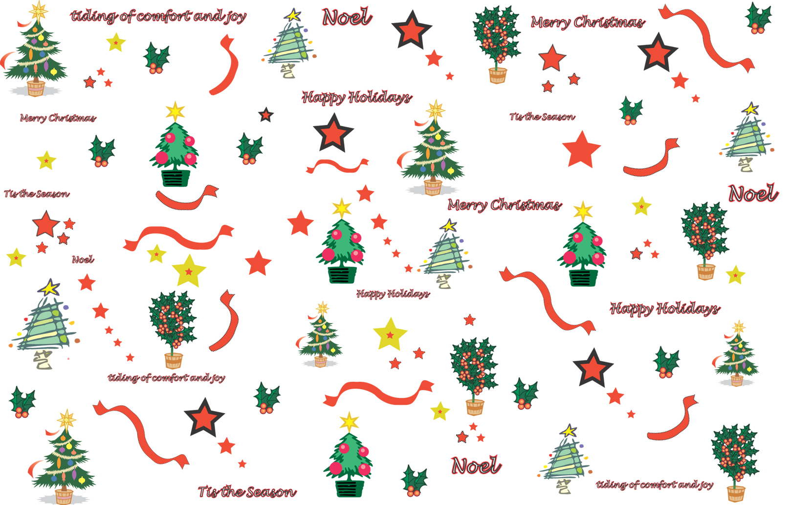 5 best images of free printable christmas paper designs for Best christmas wrapping paper