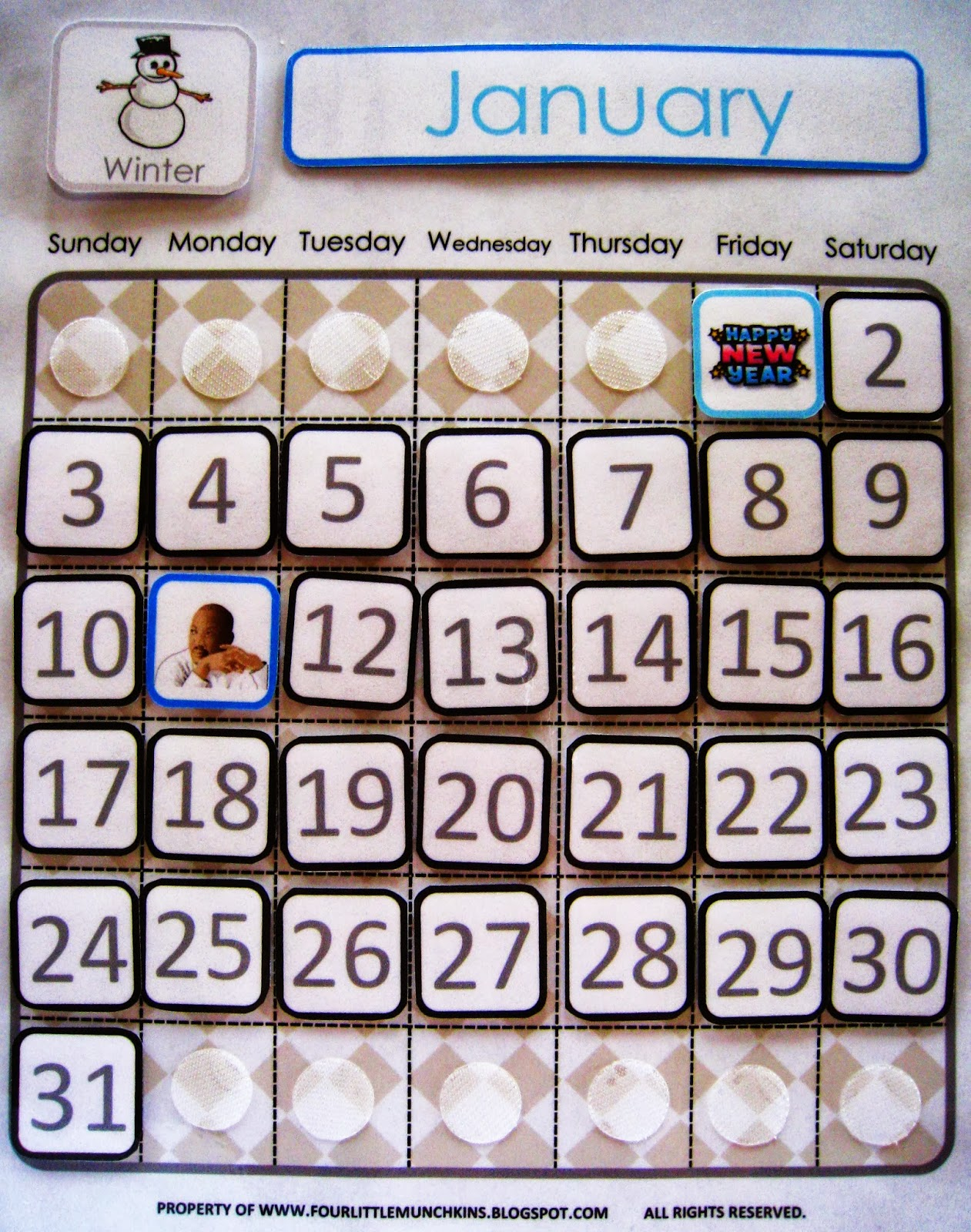 Classroom Calendar Numbers : Free printable classroom calendar numbers