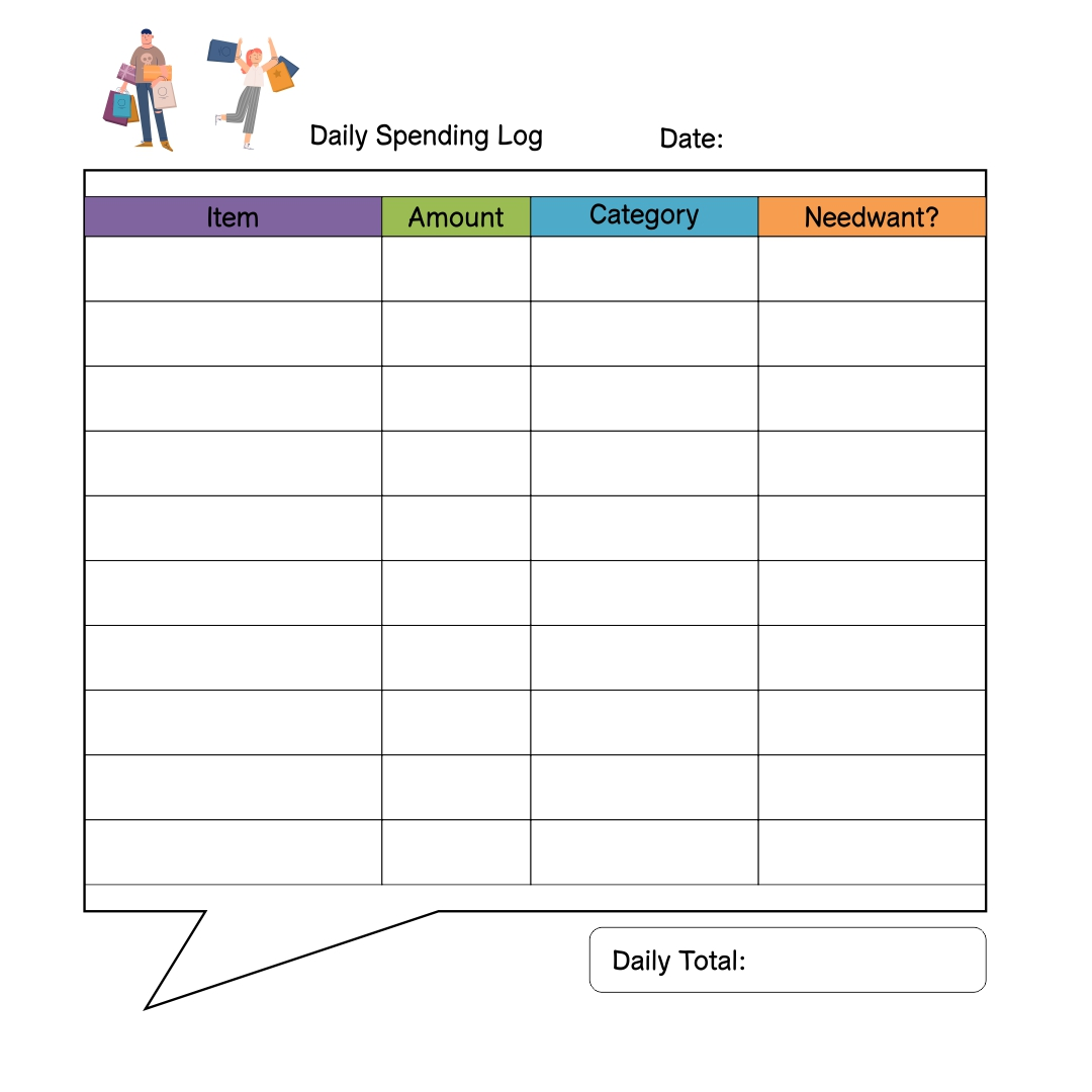 Printable Expense Log
