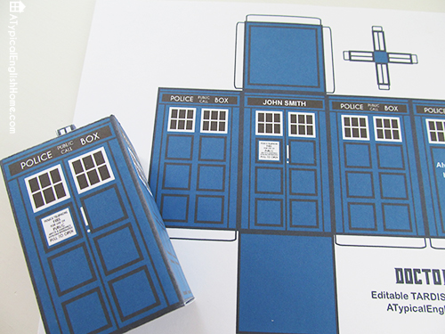 7 Images of Doctor Who Printable TARDIS