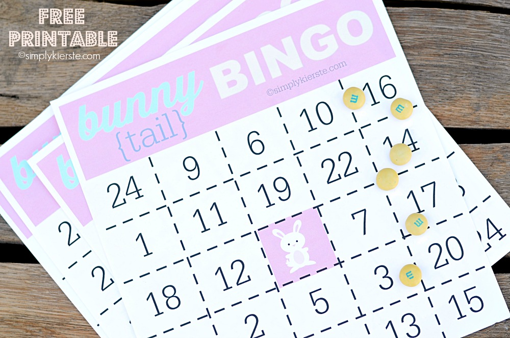 7 Images of Free Printable Easter Bingo Number