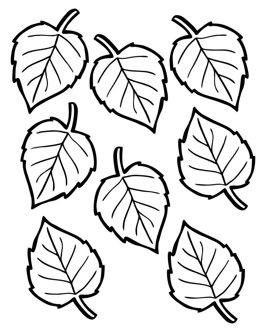 Fall Leaf Templates Printable Free