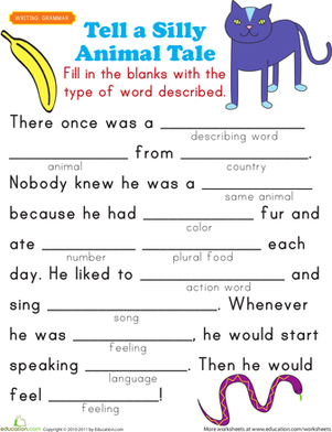 5 Images of Printable Fill In Story