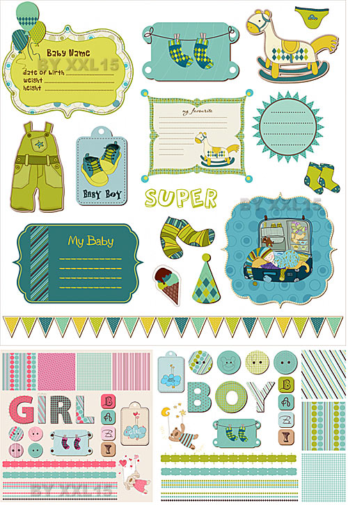 9 Images of Baby Scrapbook Printables