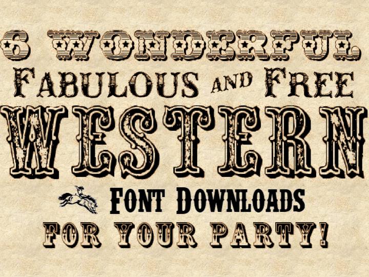 Free Cowboy Western Fonts
