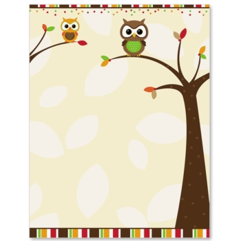 8 Images of Fall Printable Owls Border