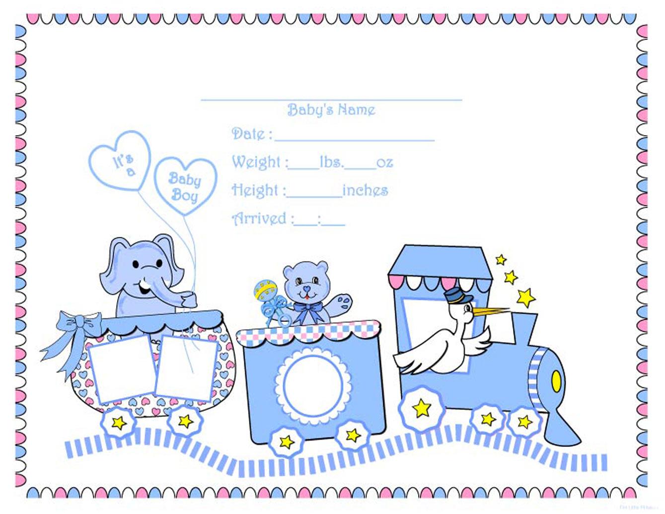 Free Printable Baby Boy Clip Art