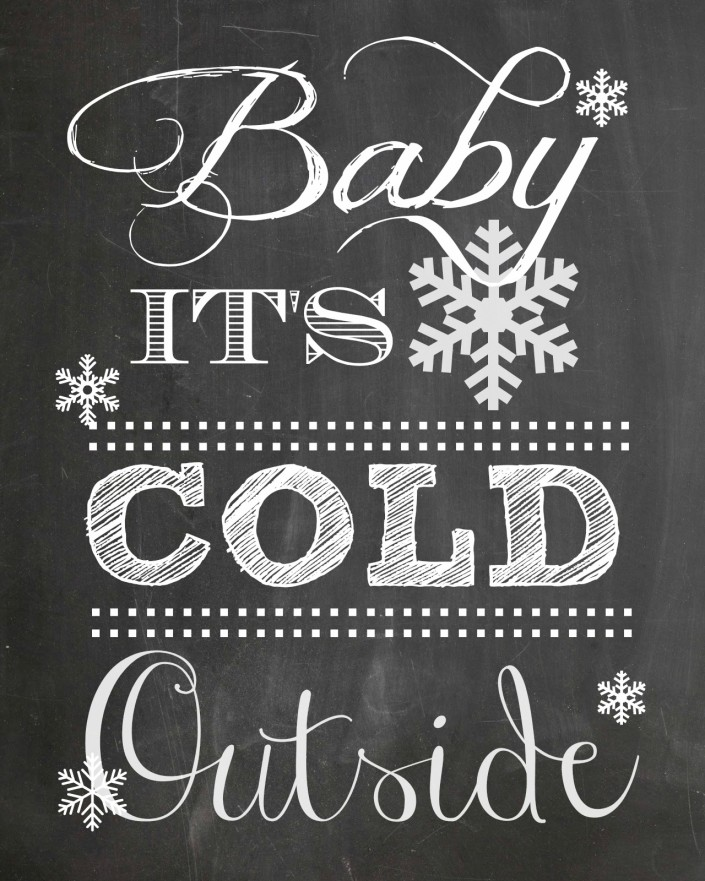 Free Printable Baby It's Cold Outside