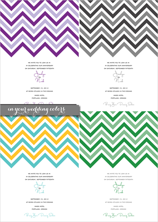 8 Images of Free Chevron Printable Invitation Template