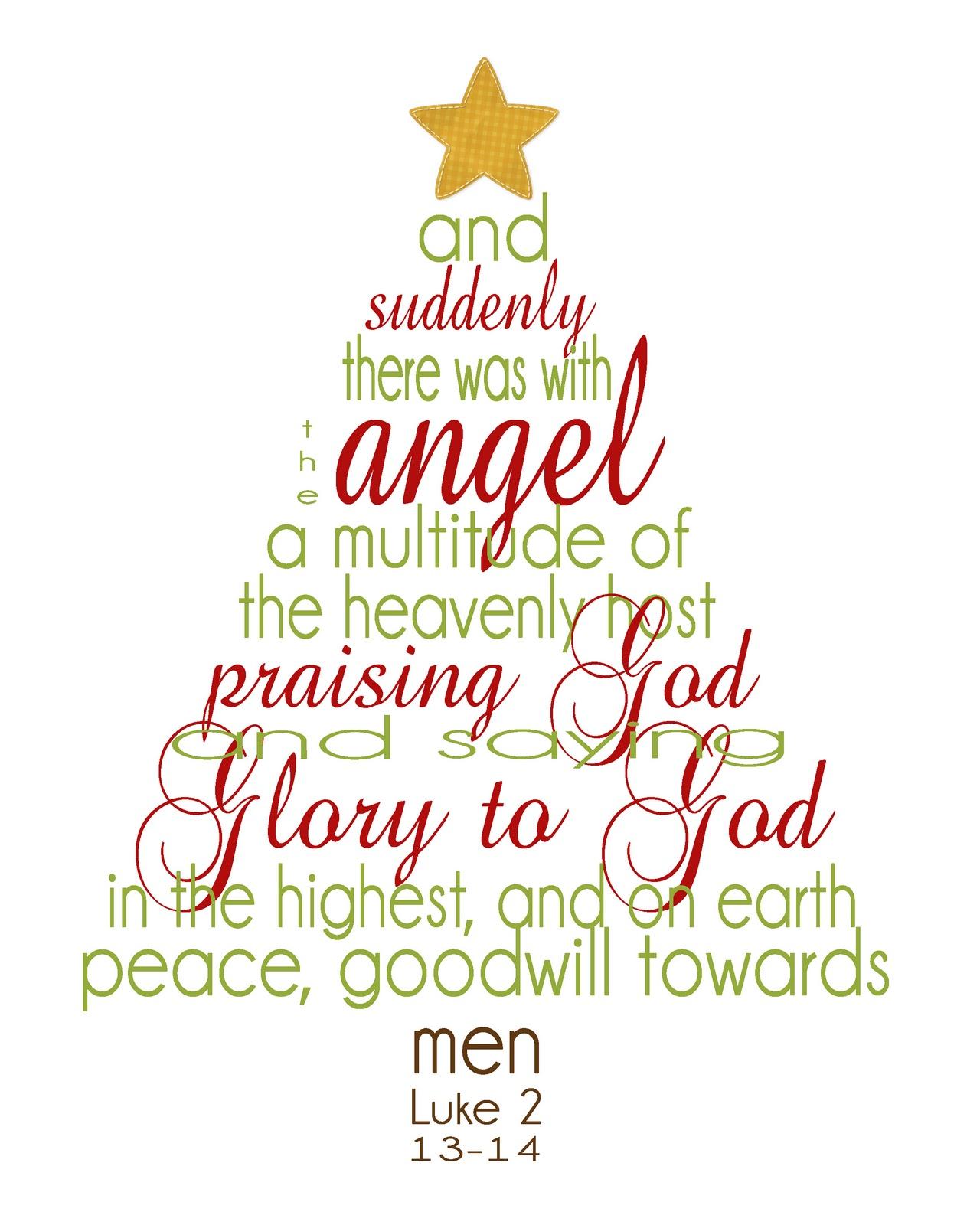 Printable Christmas Bible Verses
