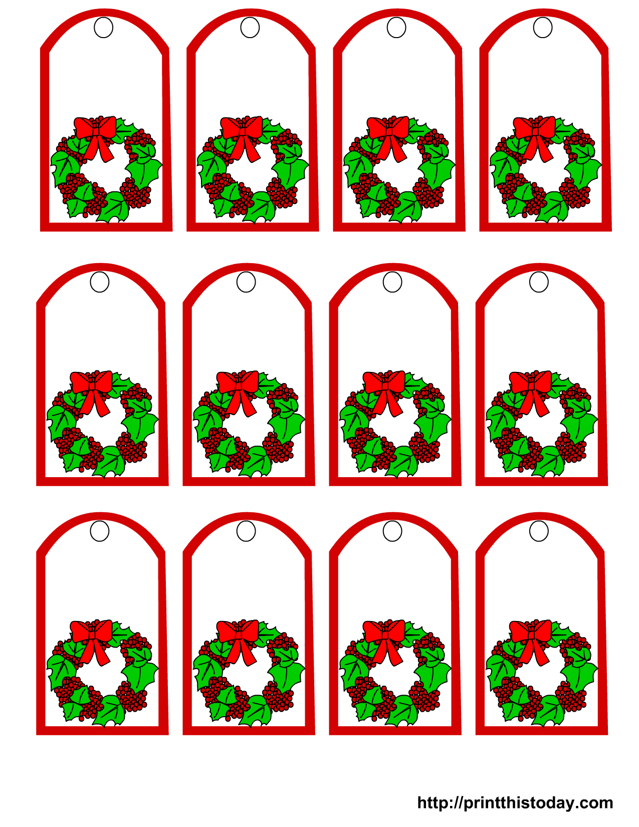 6 Images of Printable Christmas Gift Labels