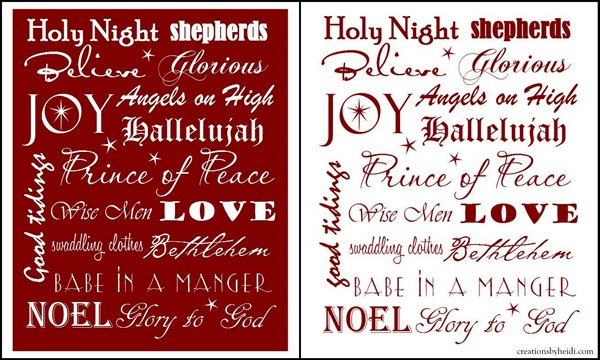 5 Images of Religious Christmas Subway Art Printable