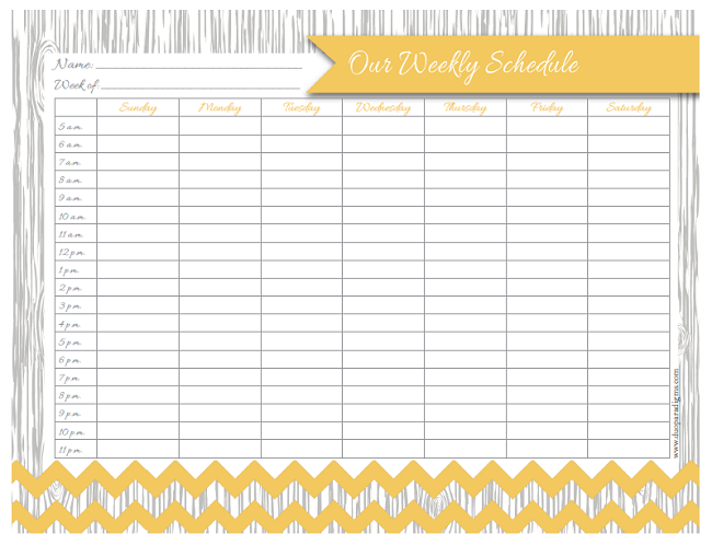 Free Printable Family Schedule