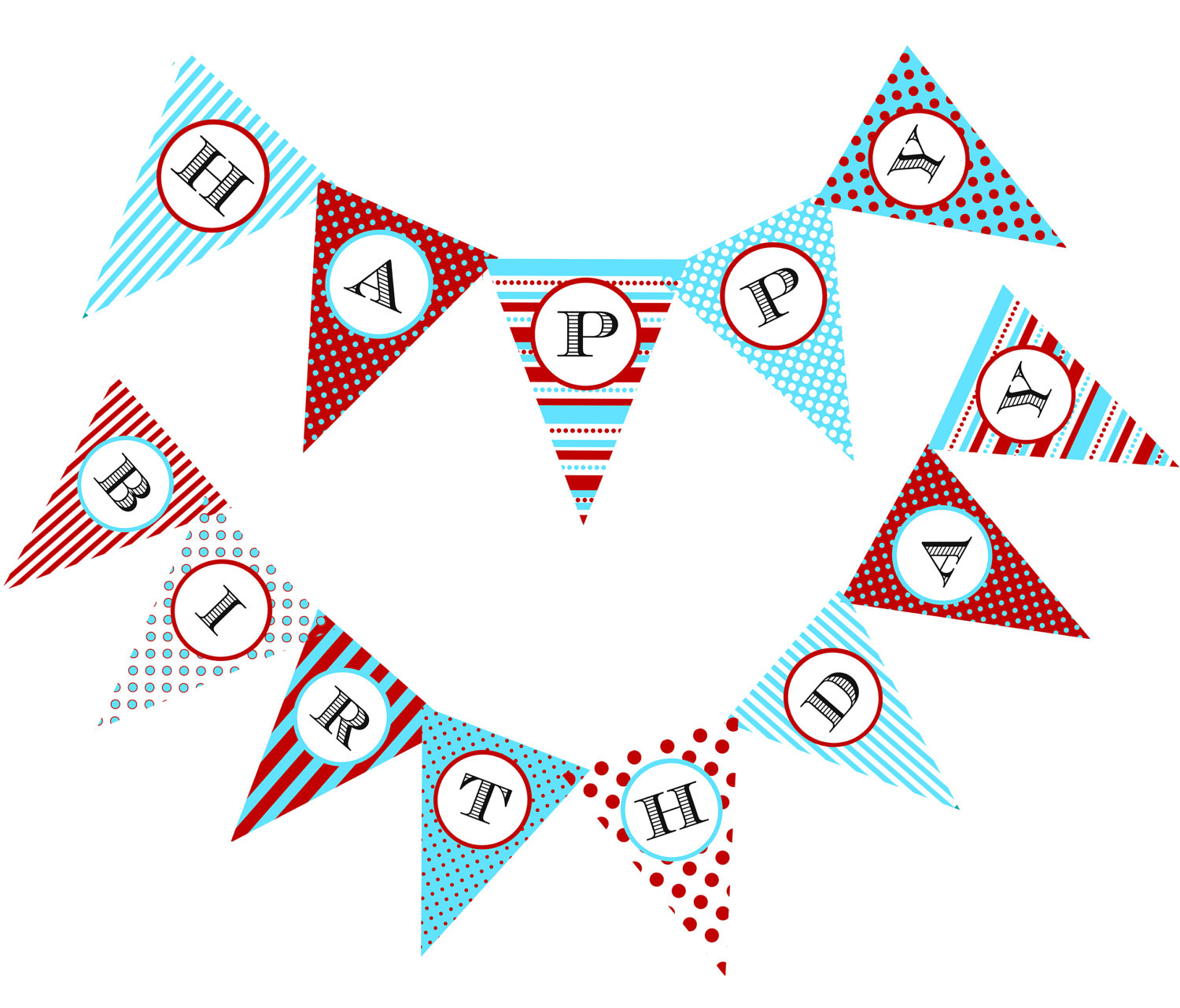 8 Images of Printable Birthday Flag Banner