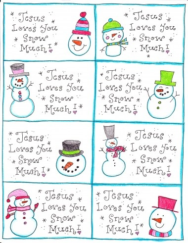 5 Images of Printables Jesus Loves You Snow Much