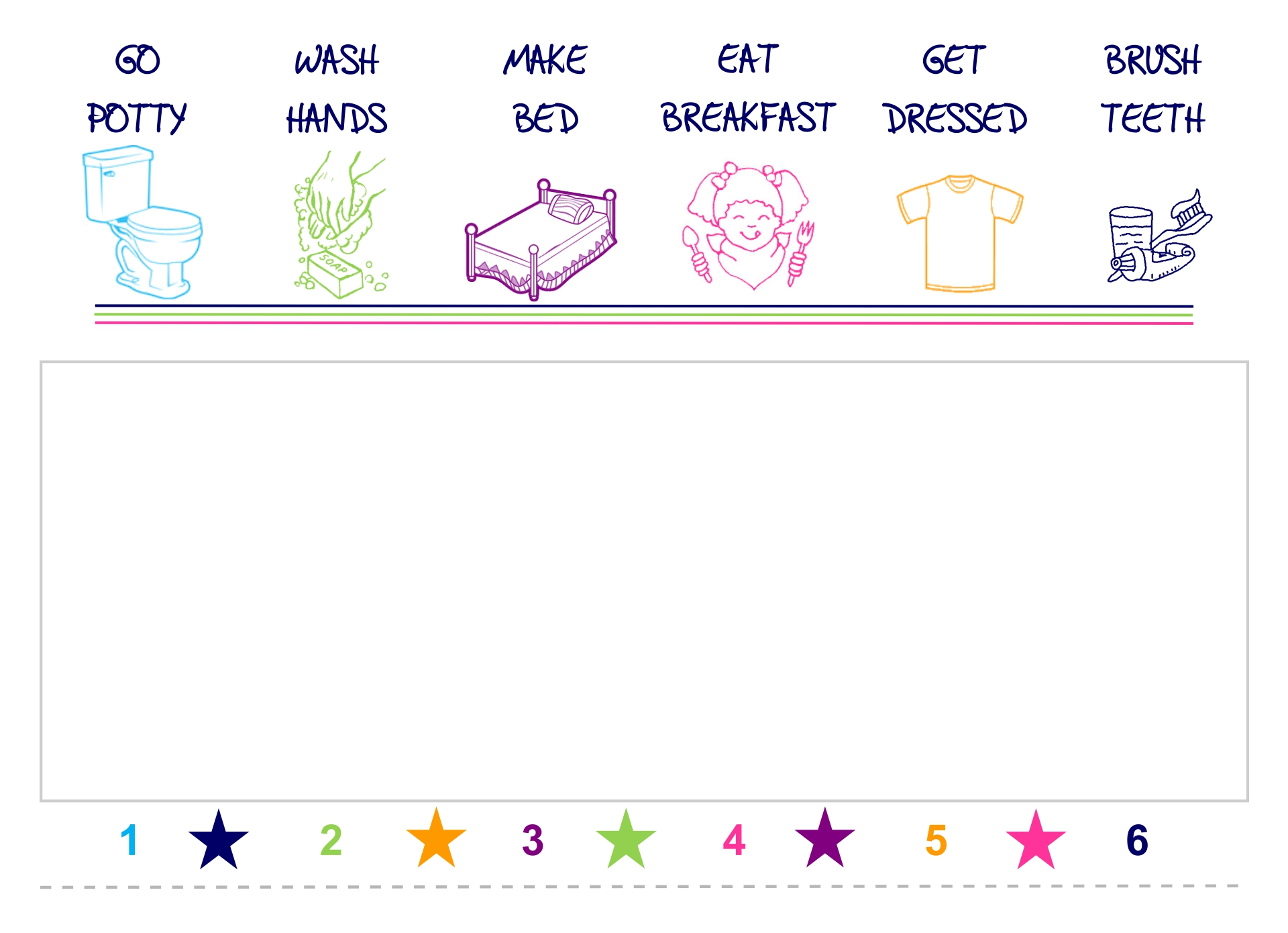 9 best images of weekly chore printable reward chart for Star chart for kids template