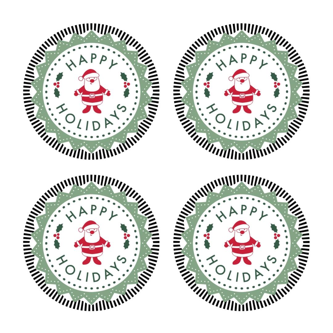 Printable Mason Jar Christmas Labels