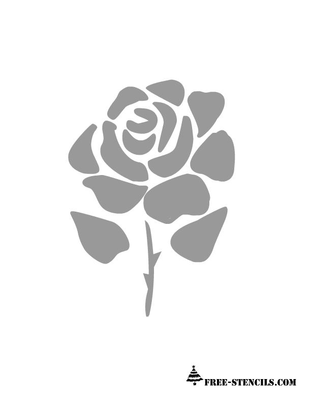 Free Printable Rose Stencil