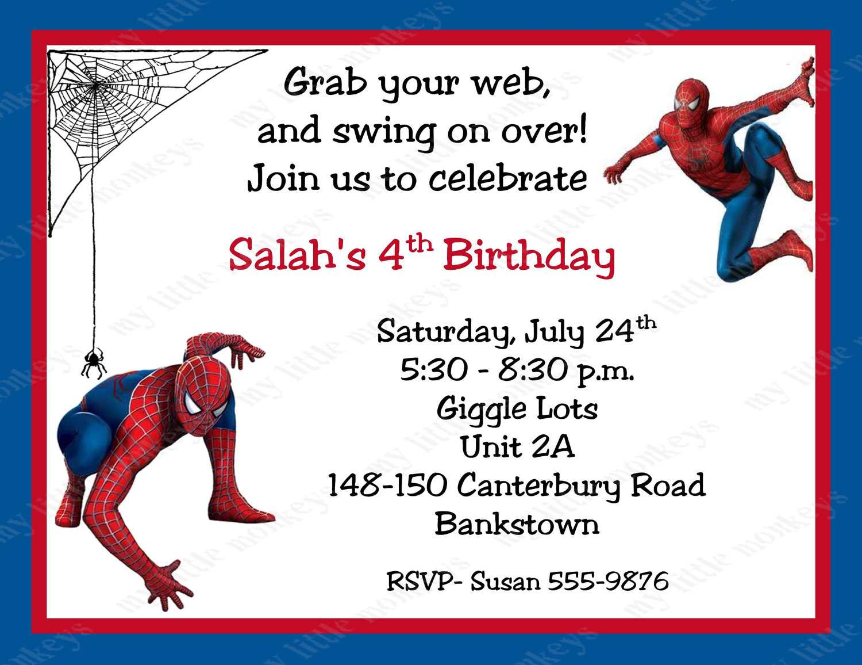... Man Invitations Printables & Free Spider-Man Printable Birthday Cards
