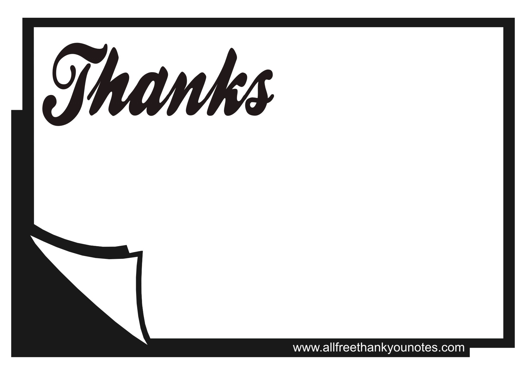 8 Images of Thank You Cards Printable Black And White