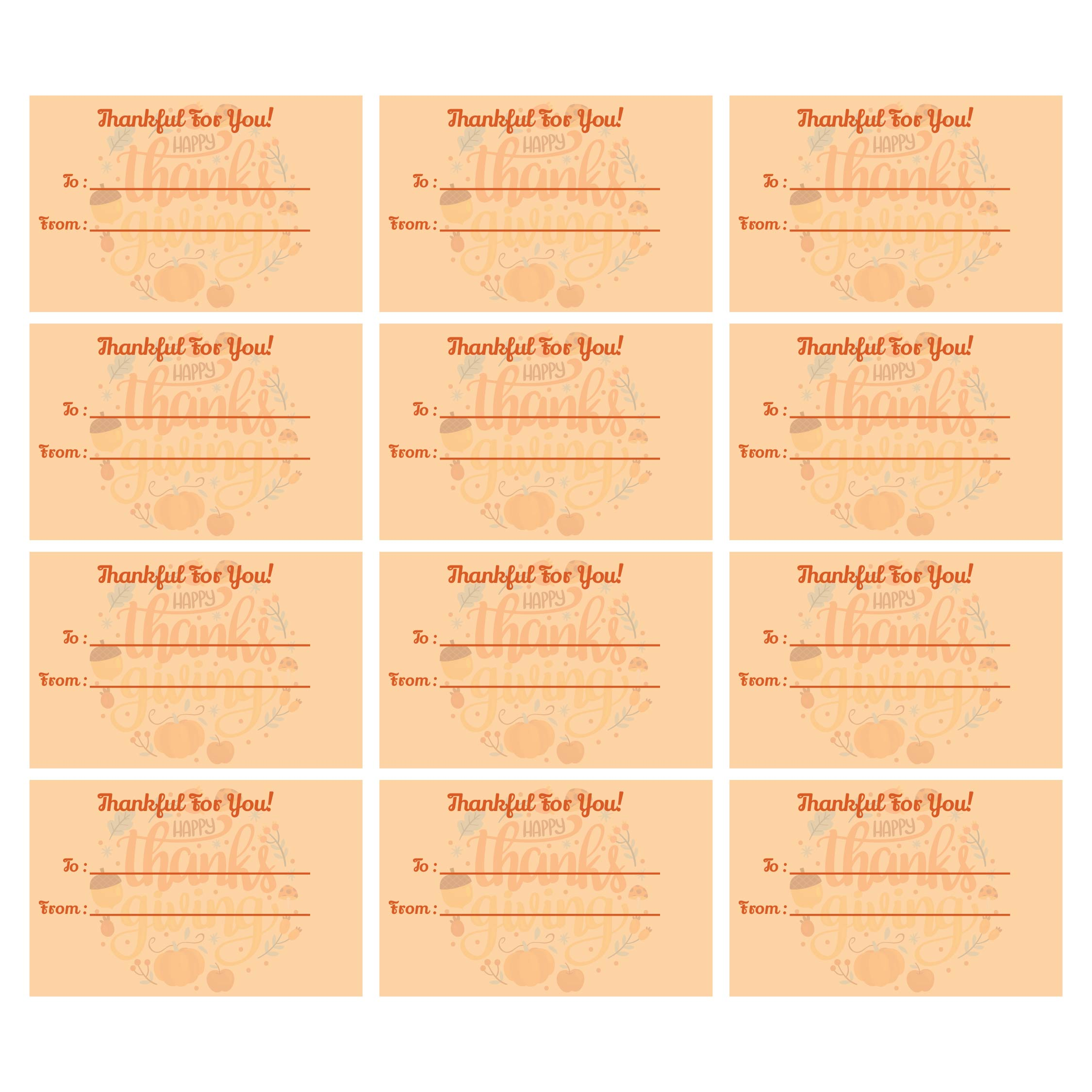 5 Images of Free Printable Thanksgiving Tags