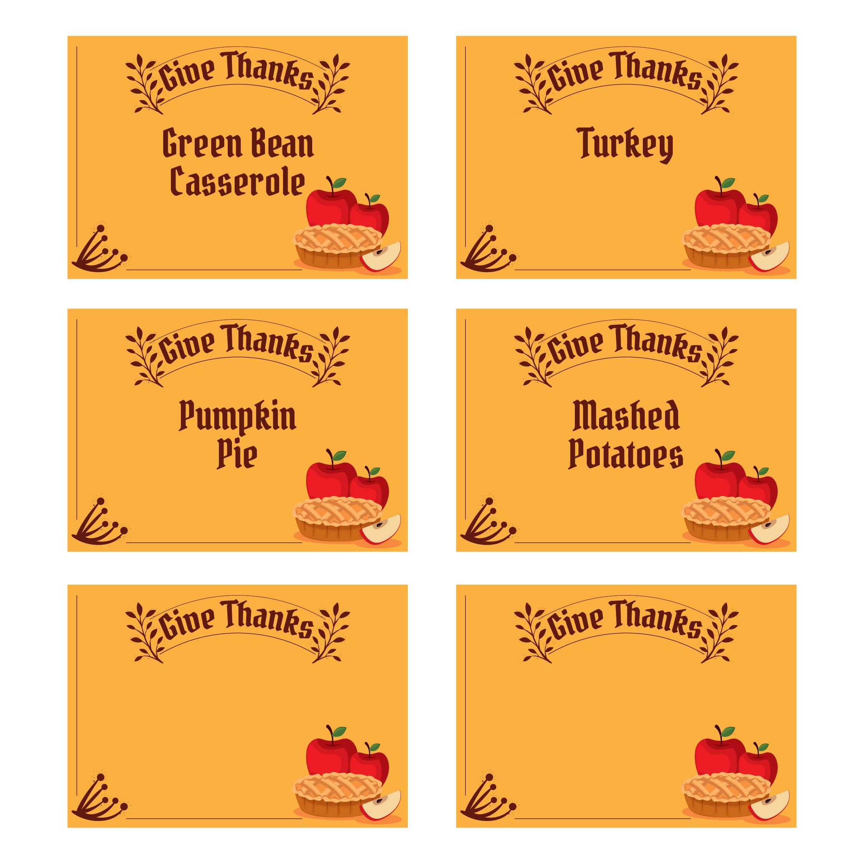 Printable Thanksgiving Menu Cards