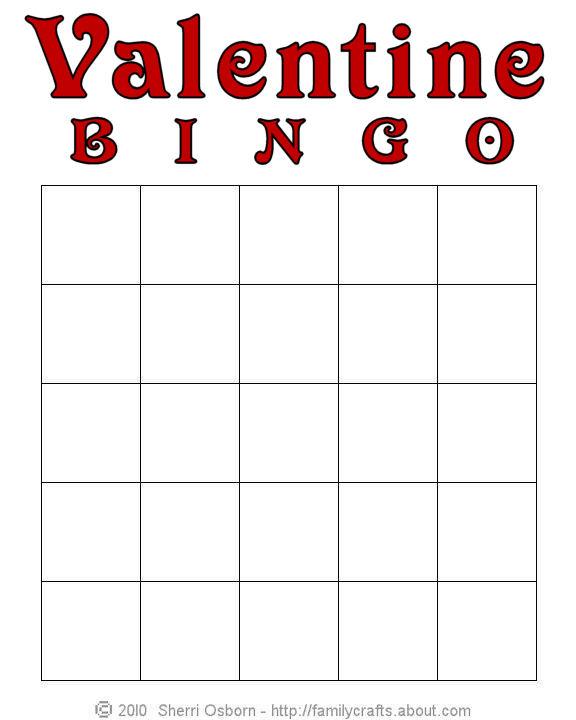 5 Images of Printable Valentine Bingo Cards Blank