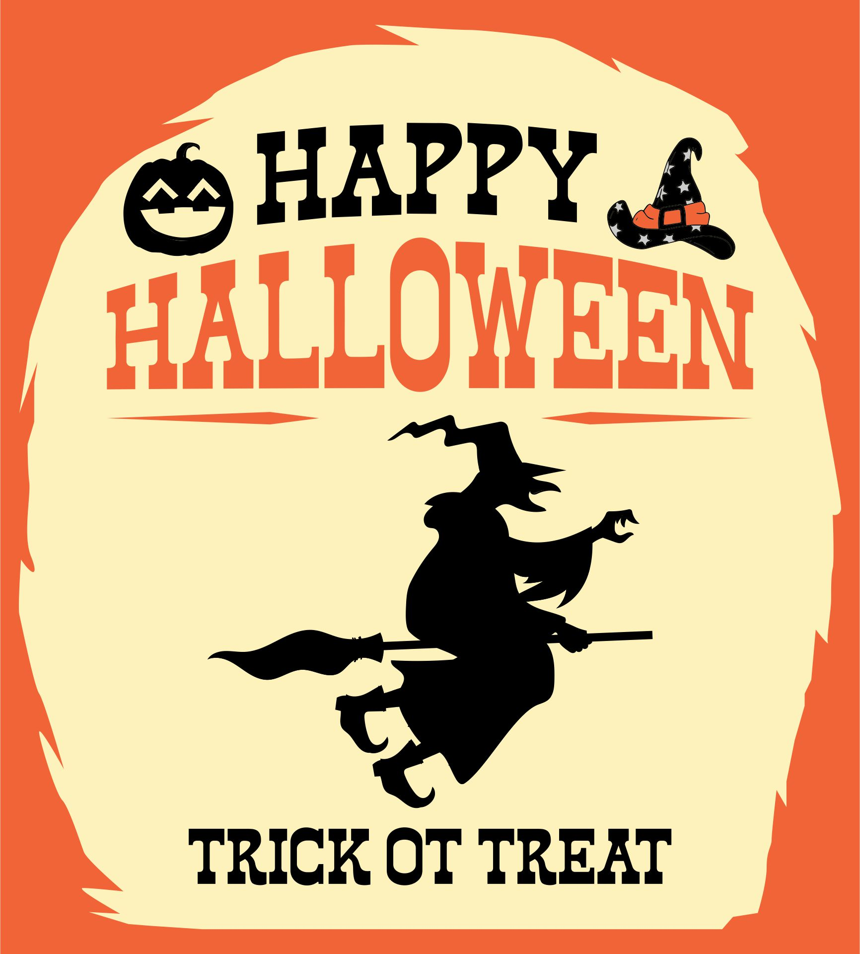 9 Images of Free Vintage Printable Halloween Signs