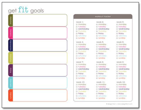 7 Images of Printable Workout Planner