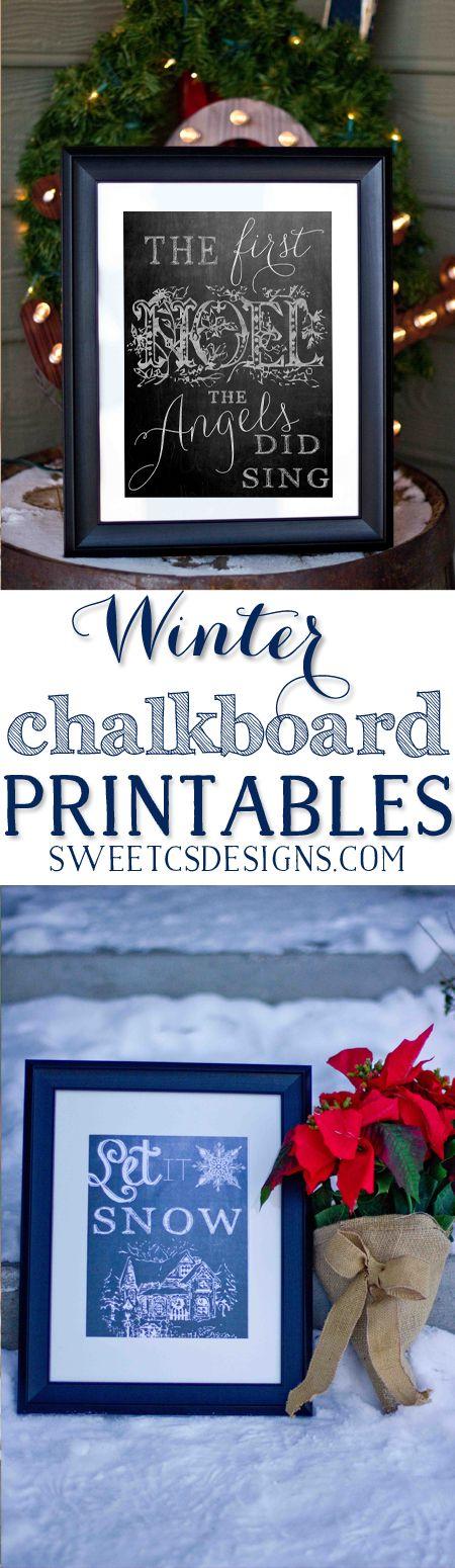 Free Winter Chalkboard Printables