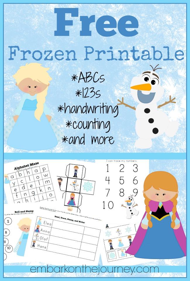 6 Images of Frozen Free Printable Activities
