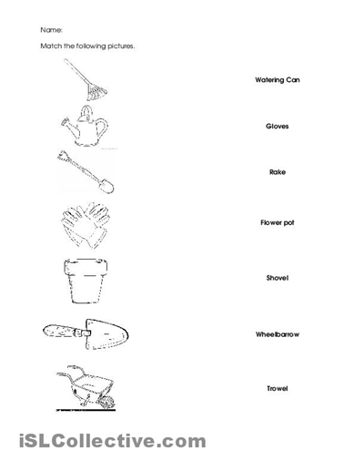 6 best images of gardening worksheets printables free for Gardening tools 6 letters