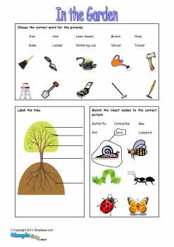 6 best images of gardening worksheets printables free for Gardening tools preschool