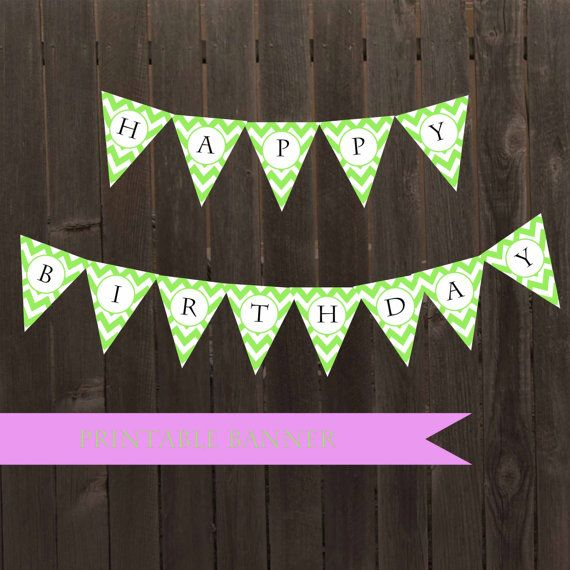 5 Images of Mini Chevron Pennant Banner Printable