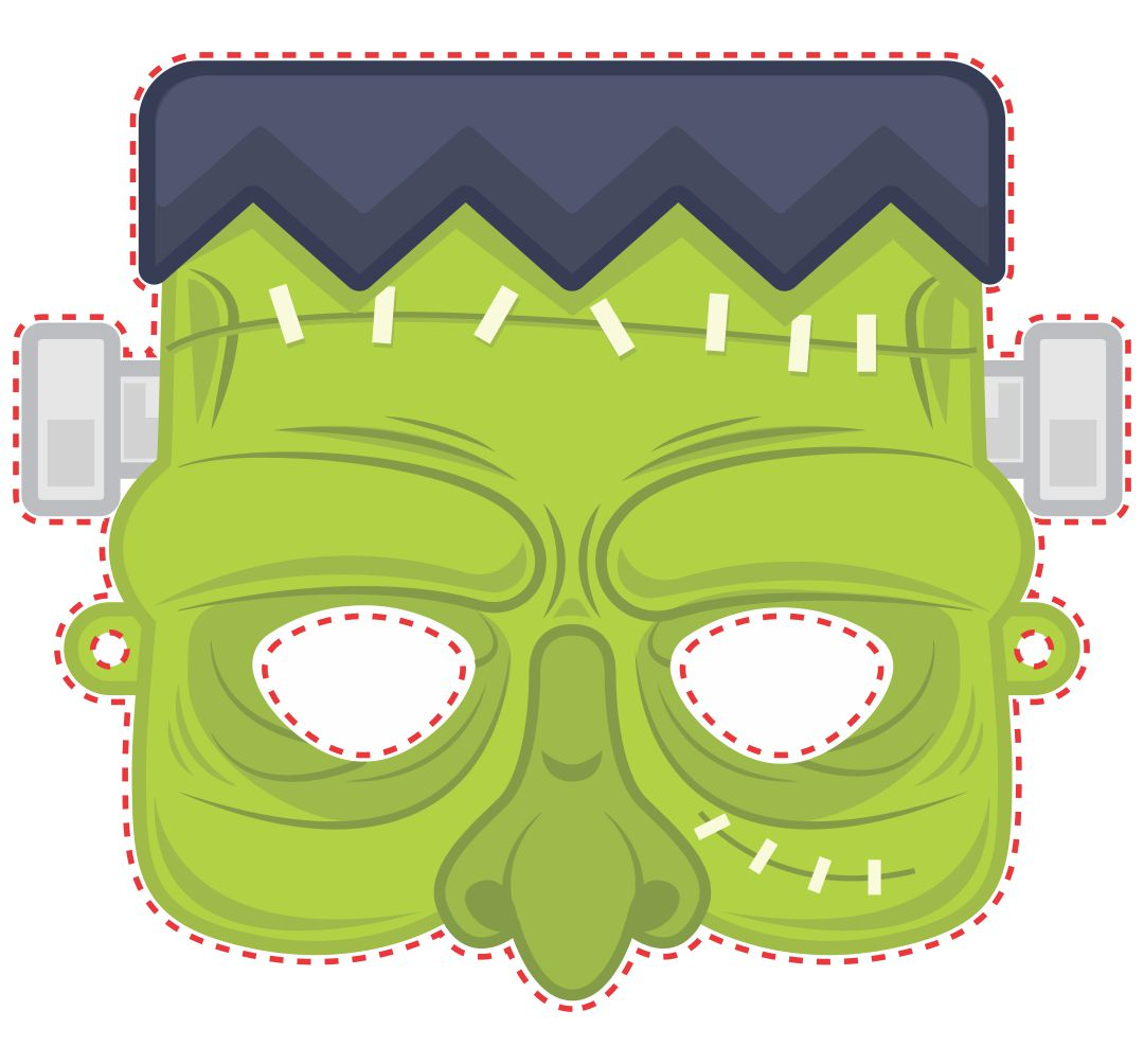 Halloween Monster Mask Cut Out