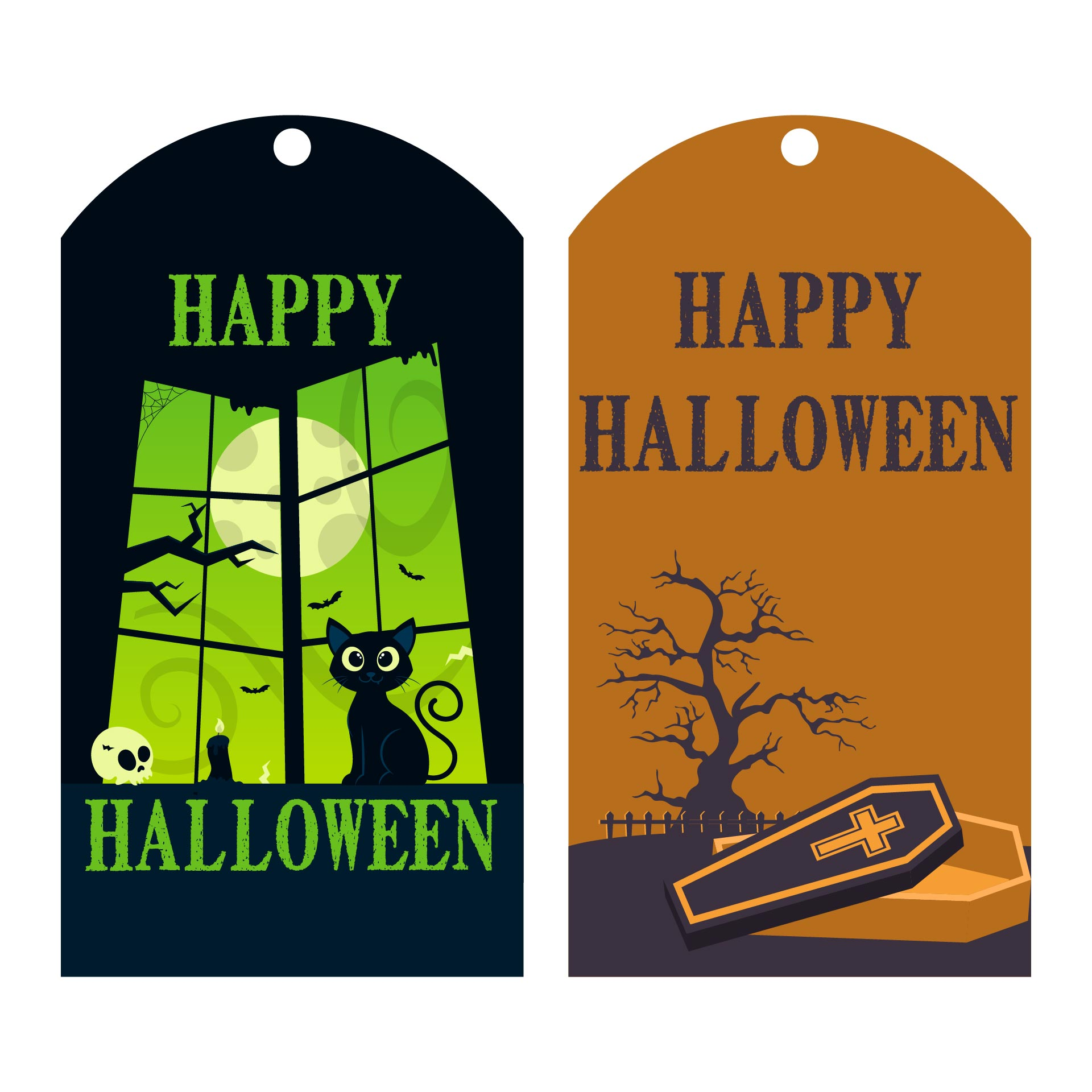 6 Images of Happy Halloween Printable Labels