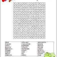 4 Images of Free Printable Word Searches Food